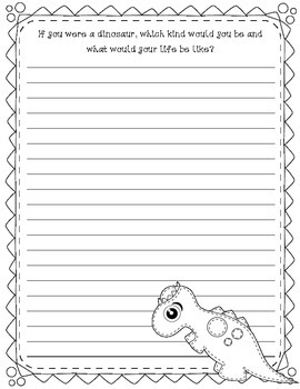 Sew Cute Dinosaurs: Dinosaur Themed Writing Prompts