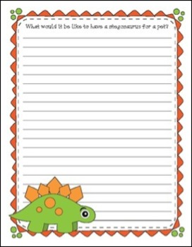 Sew Cute and Big Eyed Dinosaurs Writing, Coloring and Clipart Bundle