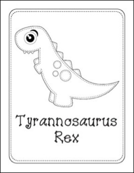 Sew Cute and Big Eyed Dinosaurs Writing, Coloring and Clip