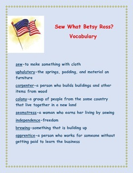 Sew What Betsy Ross Story Packet