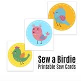 Sew a Birdie - Lacing Cards