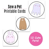 Sew a Pet - Lacing Cards