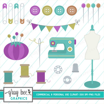 Sewing Clip Art Pack