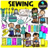 Sewing Clip Art Set {Educlips clipart}