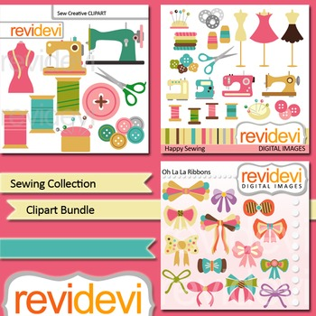 Sewing Collection Clip art - digital clipart bundle (3 packs)