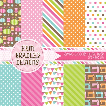 Sewing Digital Paper Graphics
