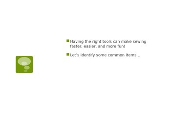 Sewing Equipment Powerpoint