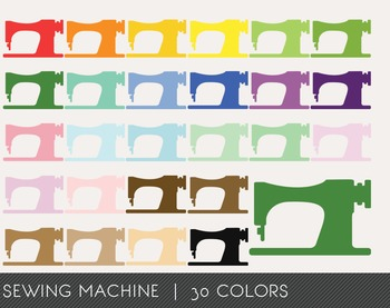 Sewing Machine Digital Clipart, Sewing Machine Graphics, S