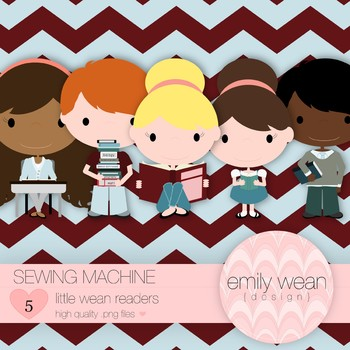 Sewing Machine - Little Readers Clip Art