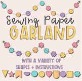 Sewing Paper Garland
