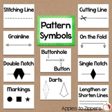 Sewing Pattern Symbols Bulletin Board Kit