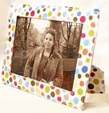Sewing Pattern Washable Fabric Photo Frame For 5x7 inch ph