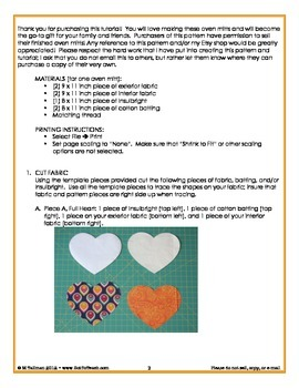 Sewing Pattern and Tutorial: Heart Oven Mitt