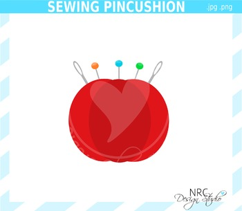 Sewing Pincushion Clip Art - Commercial Use Clipart