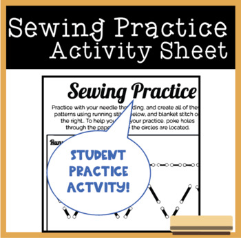 FREE Sewing Practice Activity Sheet