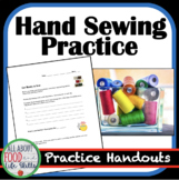 Hand Sewing Practice Sheets