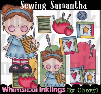 Sewing Samantha Clipart Collection
