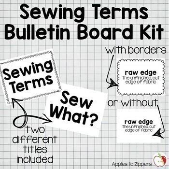 Sewing Terms Bulletin Board Kit