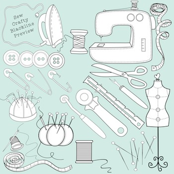 Sewing Clipart - Sew Crafty