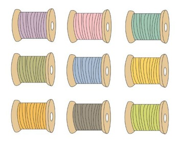 Sewing Thread Clipart, Sewing, Thread, Clipart Set #227