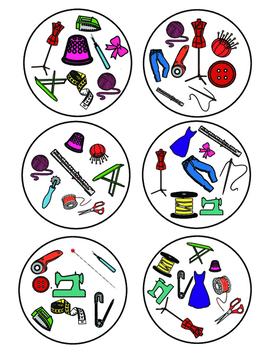 Sewing Tools Spot It Game