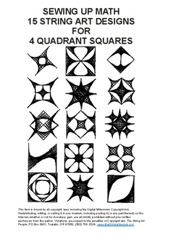 Sewing Up Math 15 String Art Designs for 4 Quadrant Squares