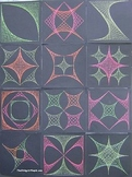 Coordinate Plane Graphing -- 15 String Art Designs for 4 Q