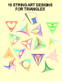 15 String Art Designs for Triangles