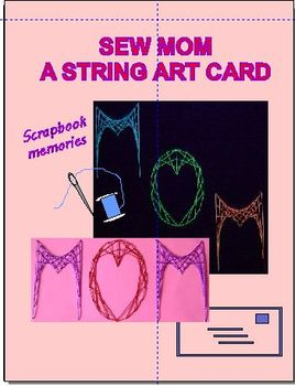 Sew MOM a String Art Card