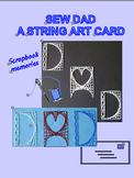 Sew DAD a String Art Card.