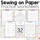 Sewing on Paper Practice Worksheets