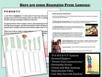 """Sex Ed. For Special Needs Students Lesson: """"Reproduction and Puberty"""""""