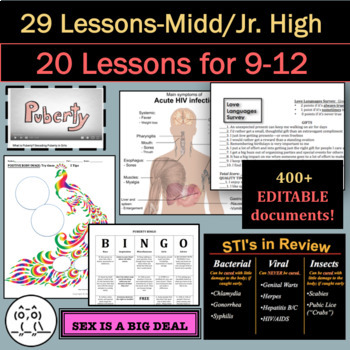Sex Ed Unit: 20 Sex Ed Lessons: This 4-Week Unit is a BEST SELLER!