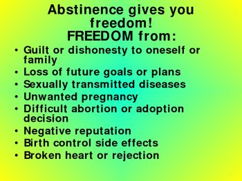 Sex Education - Abstinence Power Point