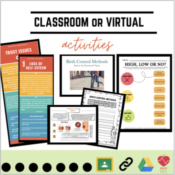 Sex Education 7-Unit BUNDLE: 4 Weeks of Lessons, Activities, Projects & Notes