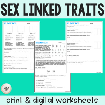 Sex Linked Traits - Practice