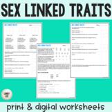 Sex Linked Traits - Practice Worksheet