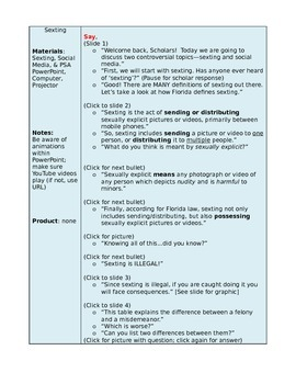 Sexting and Social Media Lesson Plan