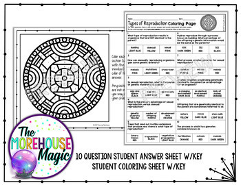 Sexual & Asexual Reproduction Coloring Page