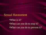 Sexual Harassment Awareness Training