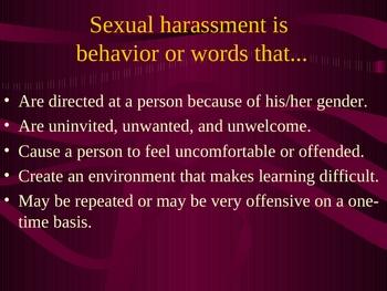 Sexual Harassment Awareness Training