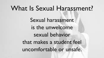 Sexual Harassment Bullying Guidance Lesson PowerPoint w- video link
