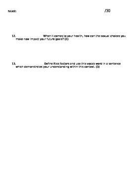 Sexual Health (STI and Birth Control) Quiz