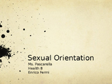 Sexual Orientation Power Point