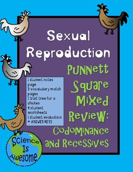 Sexual Reproduction Punnett Square Mixed Review: Co-dominance and Recessives