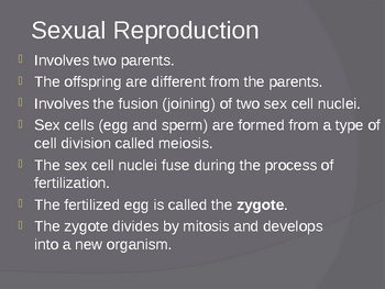 Sexual Reproduction in Animals PowerPoint Presentation Lesson Plan