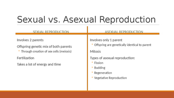 Sexual and Asexual Reproduction