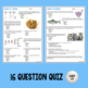 Sexual and Asexual Reproduction Quiz