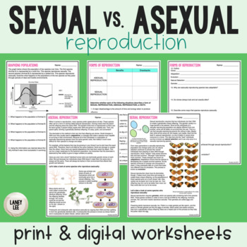 Sexual vs. Asexual - Guided Reading + Worksheets