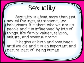 Sexuality and Sexual Health PowerPoint
